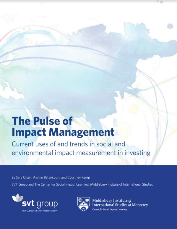 SVT - Impact Management, PDF, Impact Management