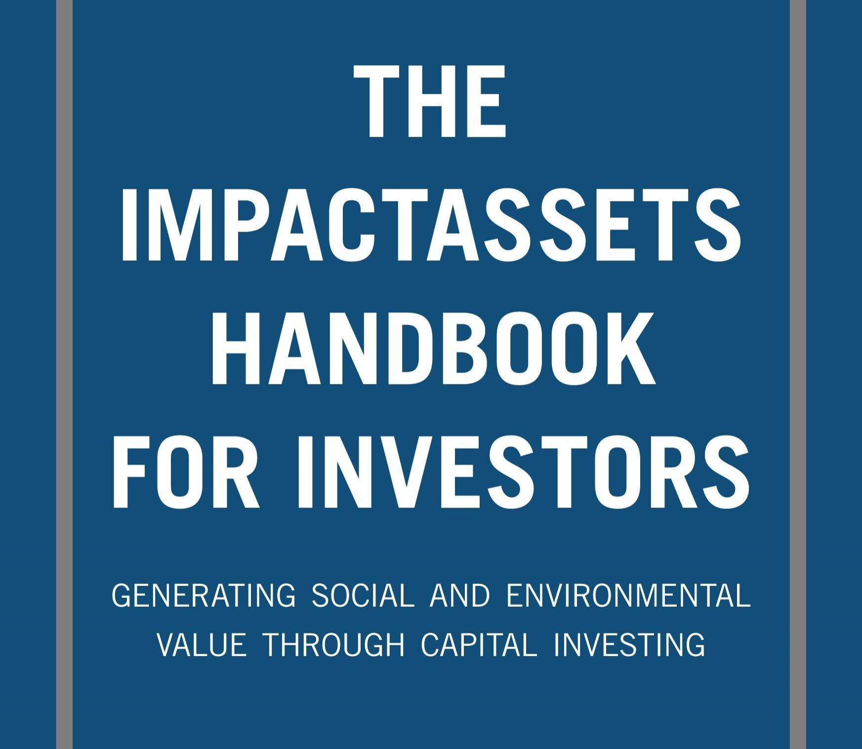 SVT - Handbook, Investors, Silicon Valley. Impact Management