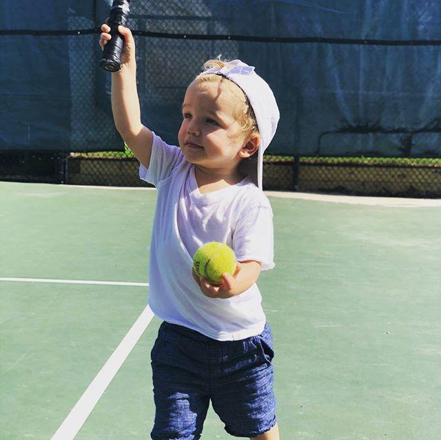 """Tennis Momma Let's Go!!"" 💚"