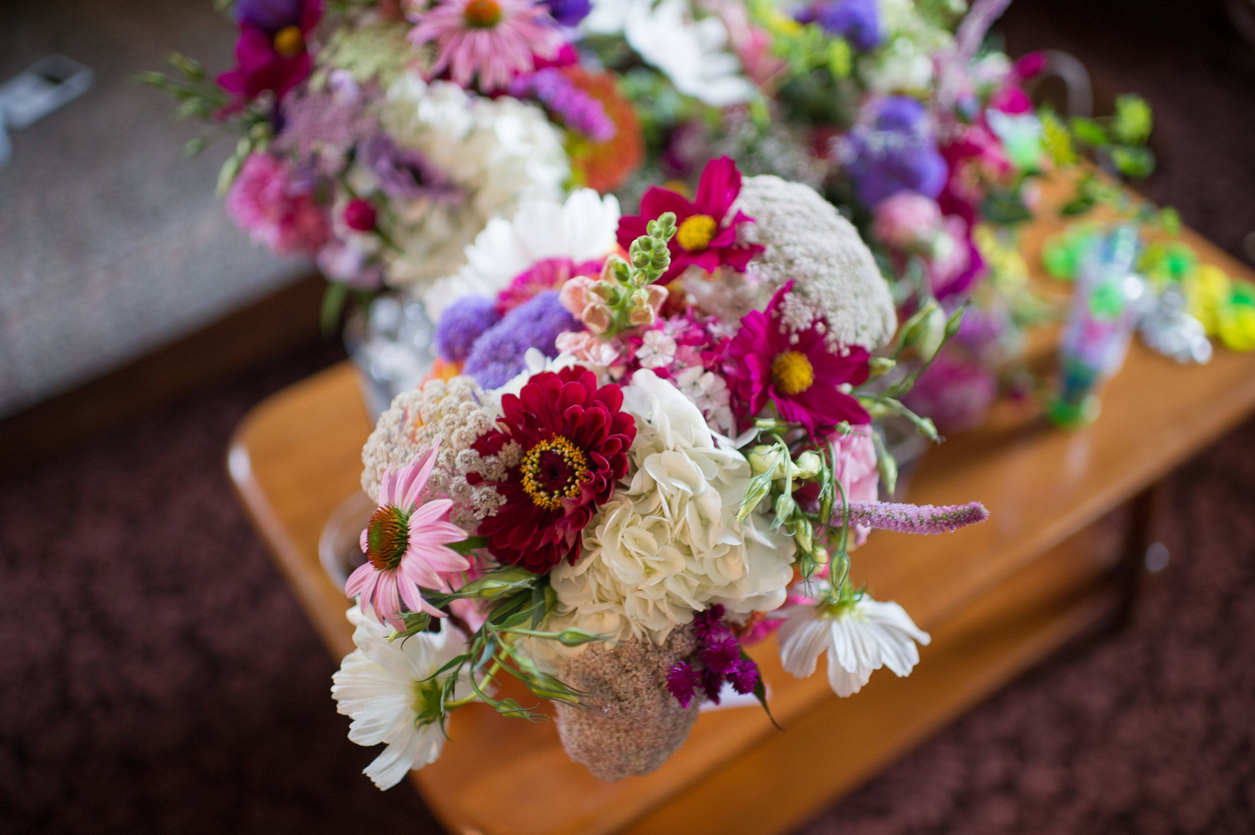 Reception flowers, courtesy of Ayres Photography