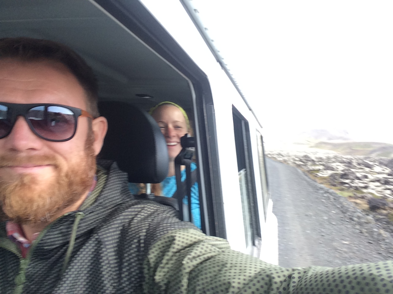 Taking happy customers to the middle of nowhere.