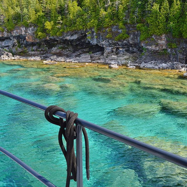 Crystal clear waters here in Ontario's Fathom Fathom Five National Marine Park