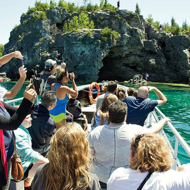 Your summer vacation photos will be epic!  #Tobermory #parkscanada #boat #cruises #water #rock #love #today #georgianbay  #summer #vacation #road trip #toronto #Canada #Ontario #travel #explorethebruce #thingstodo #camping #group #fun #nature #earth #photography #landscape