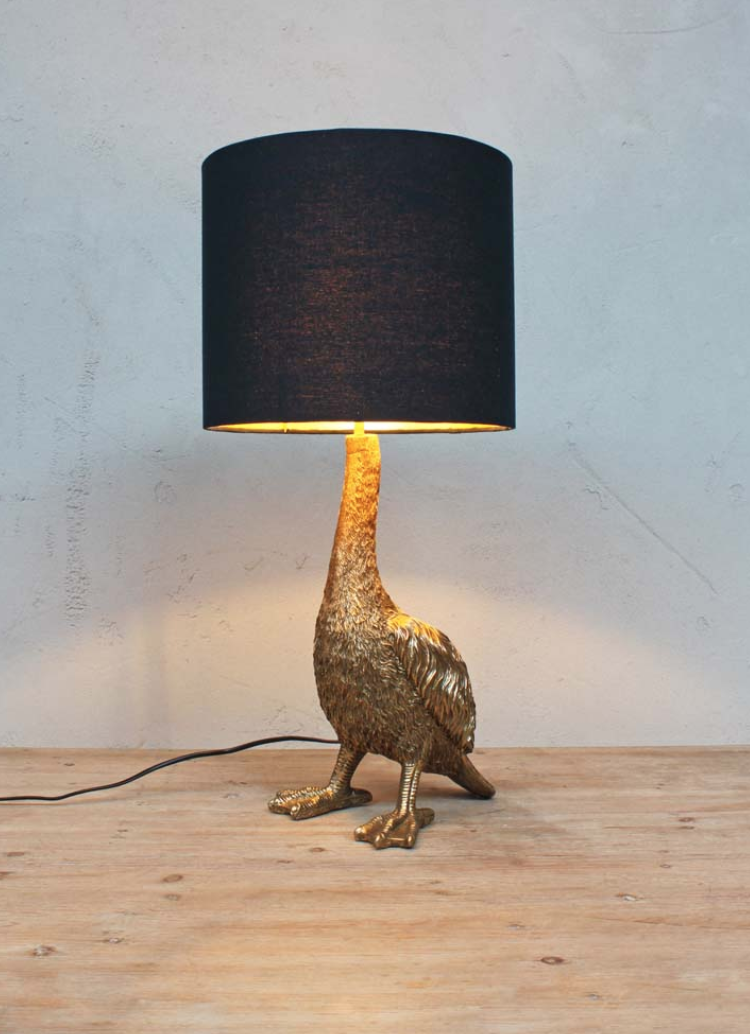 The Dodo light Our charming Dodo light will make an original touch for your interior. Gold lined shade included. £178