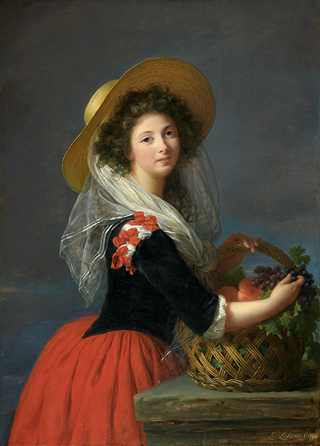 Elisabeth-Louise Vigée Le Brun, French (1755-1842).  Portrait of Marie-Gabrielle de Gramont, Comtesse de Caderousse , 1784. Oil on wood panel, 41 3/8 x 29 7/8 inches (105.1 x 75.9 cm). The Nelson-Atkins Museum of Art, Kansas City, Missouri.   Purchase: William Rockhill Nelson Trust, 86-20.