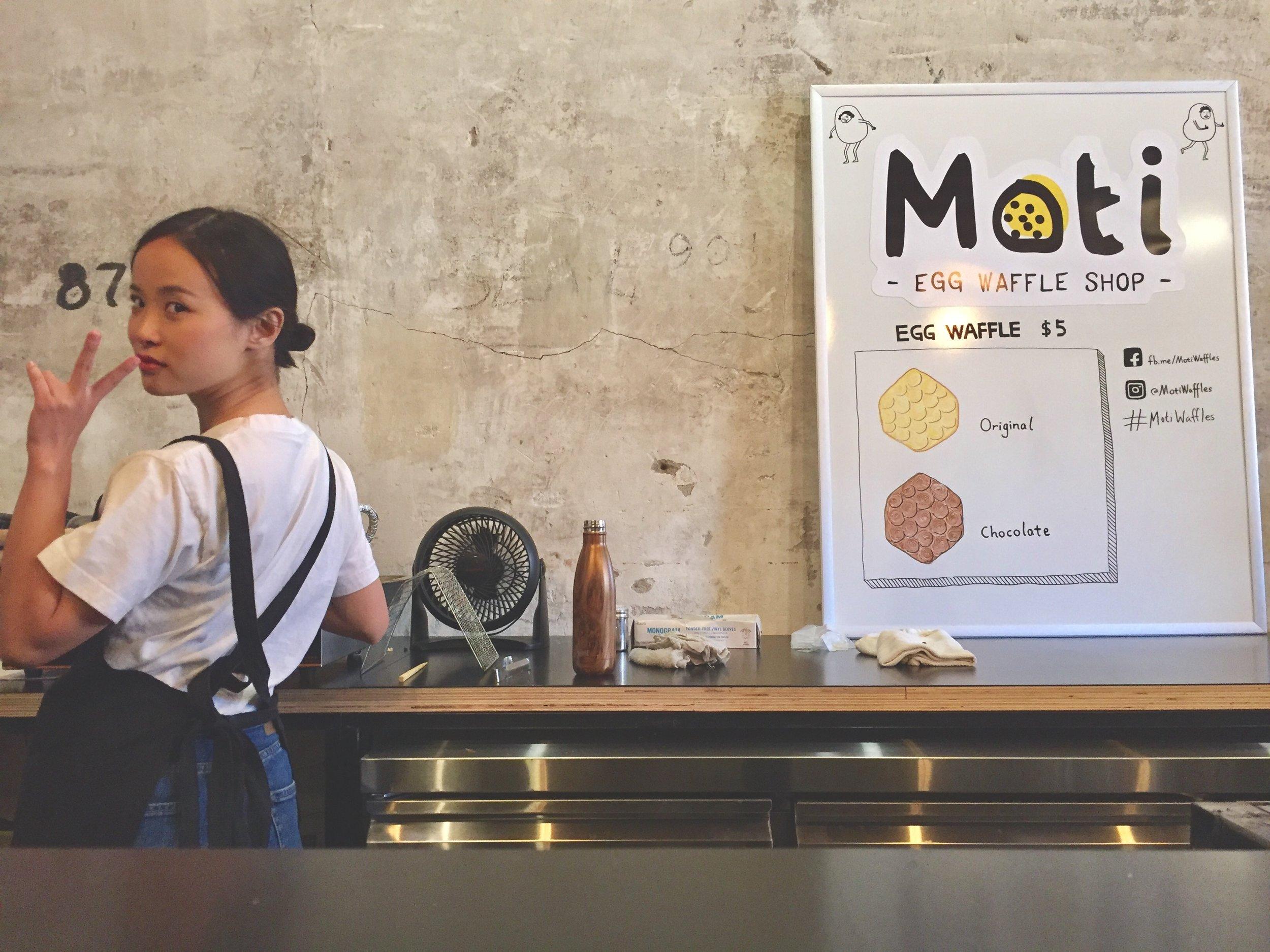 Moti Egg Waffle Shop. Photo courtesy of Phillip Wolff