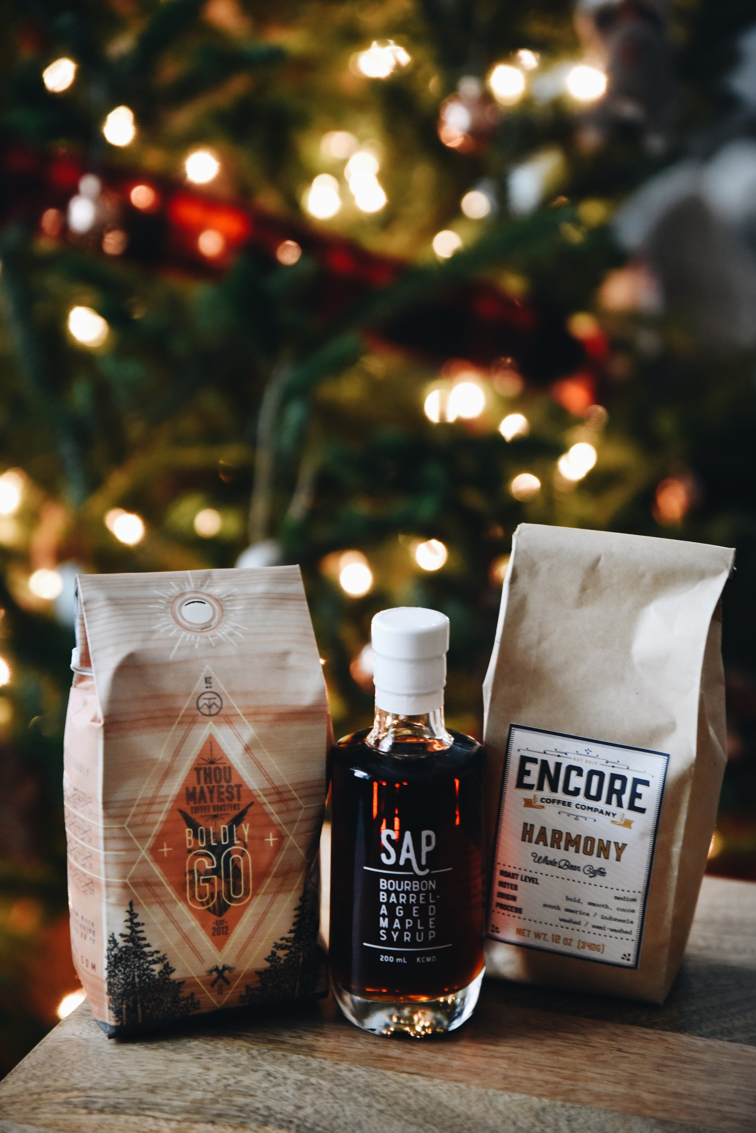 KC Coffee Subscription from Made in KC and SAP Bourbon Barrel-Aged Maple Syrup. All photos by Anna Petrow