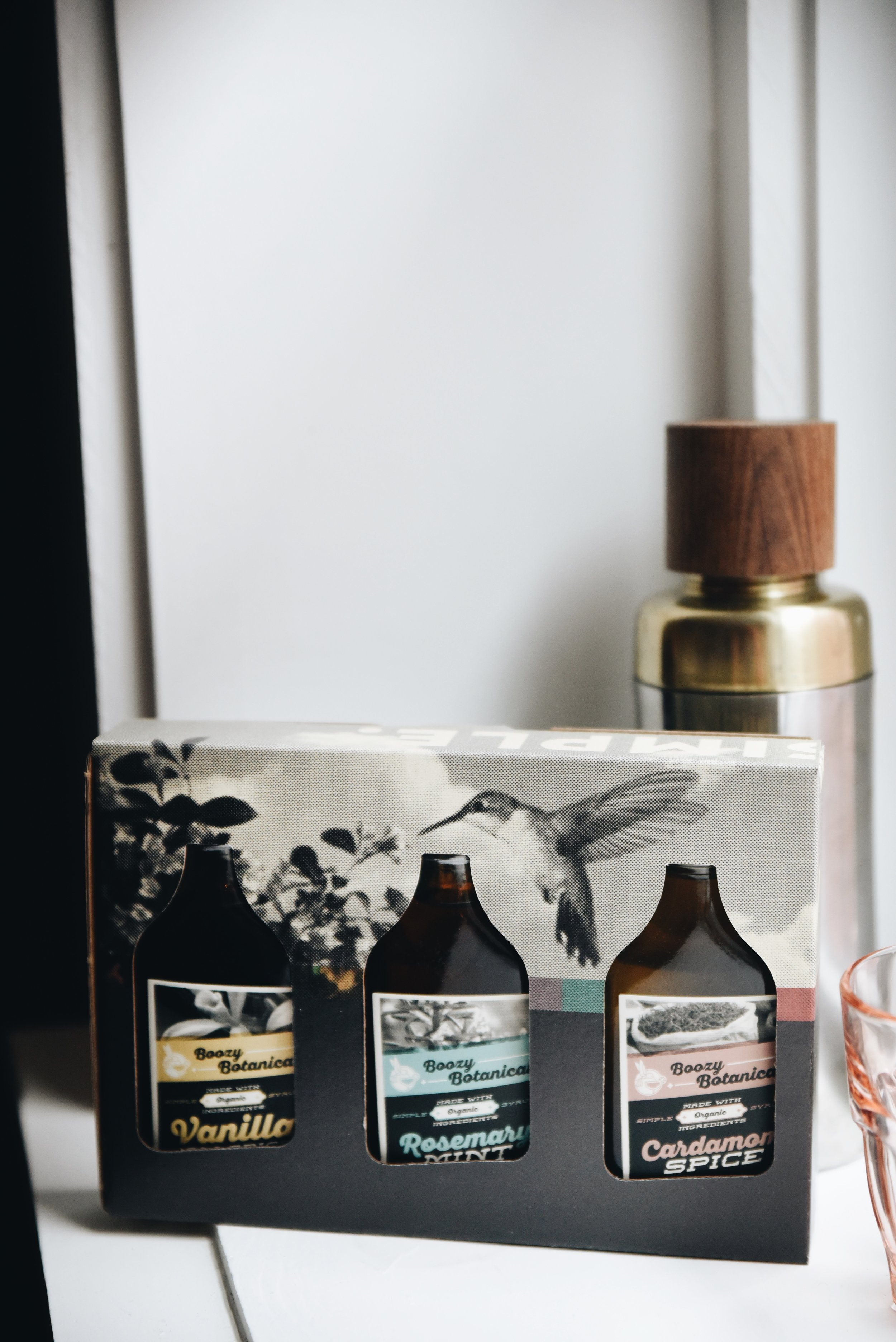 Boozy Botanicals gift set.