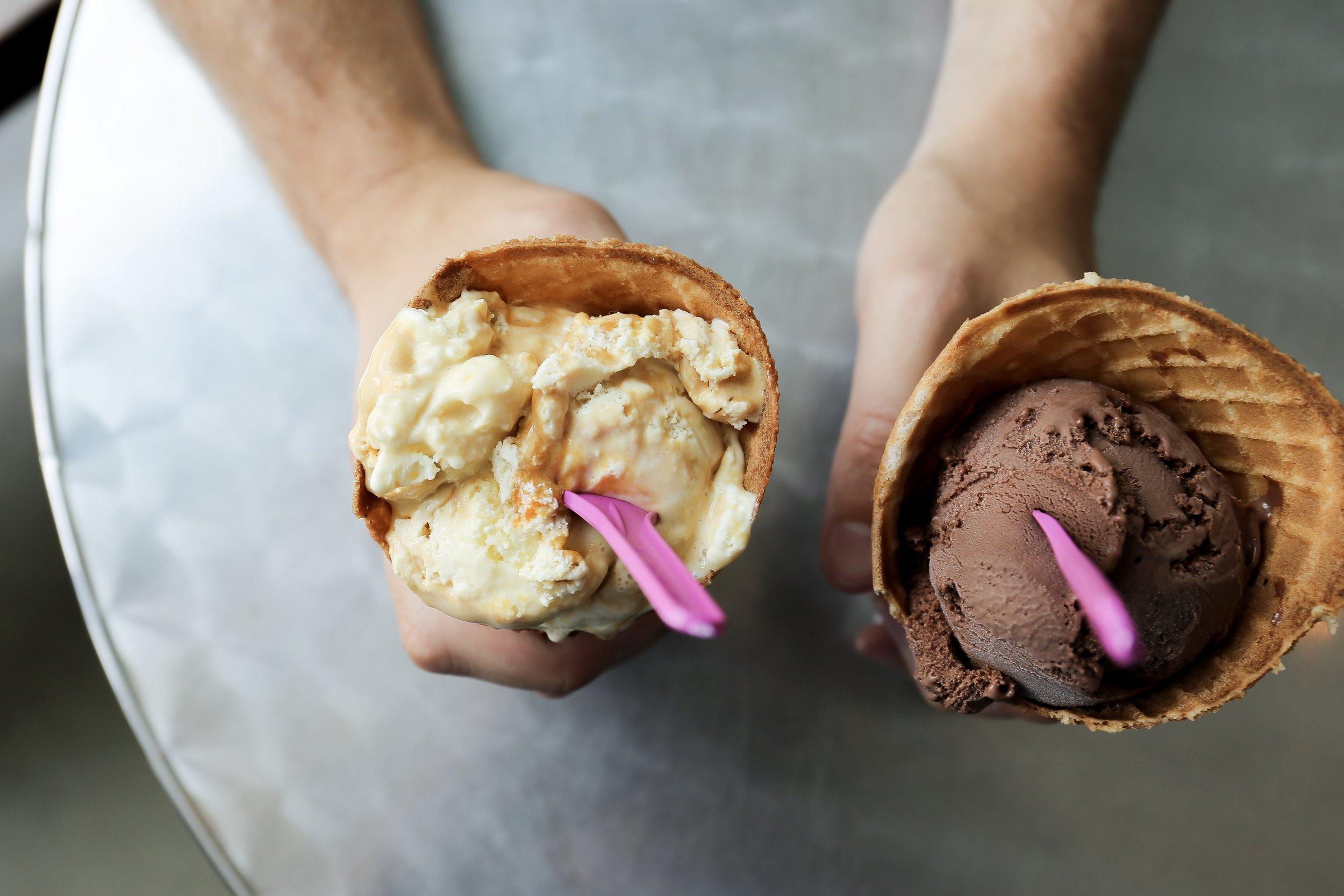 Glacé Artisan Ice Cream.  All photos by Emily Bordner