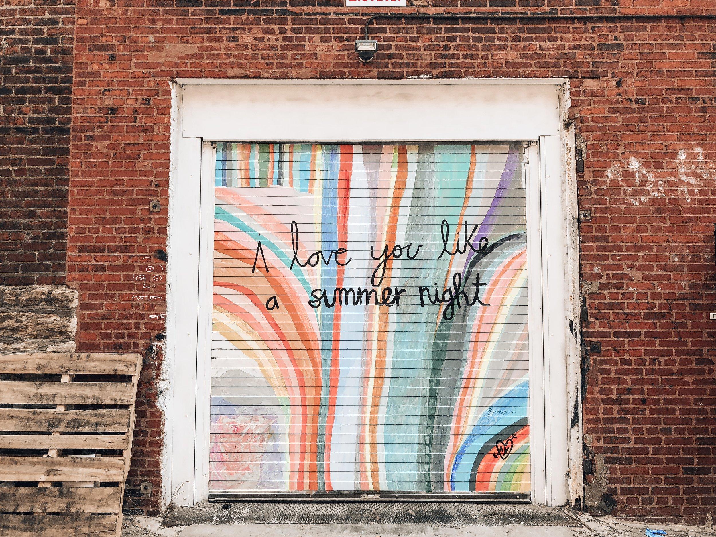 Mural by Abby Yemm.
