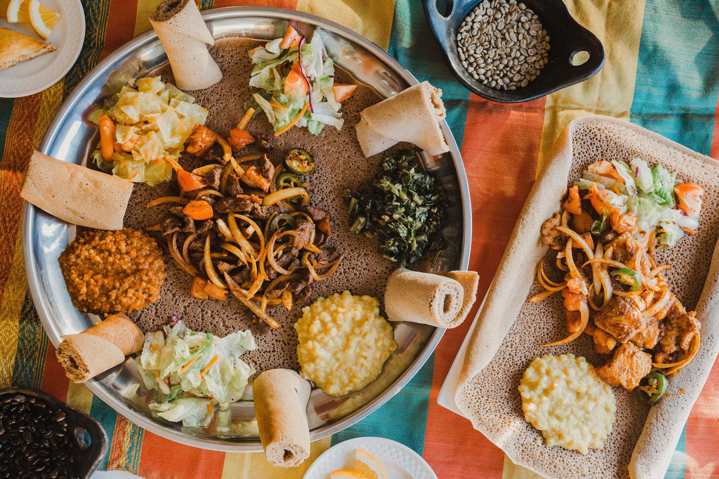 Beef and fish tibs from Desta's Ethiopian Cuisine.
