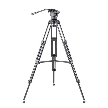 Video Tripod with 2-way Fluid Head