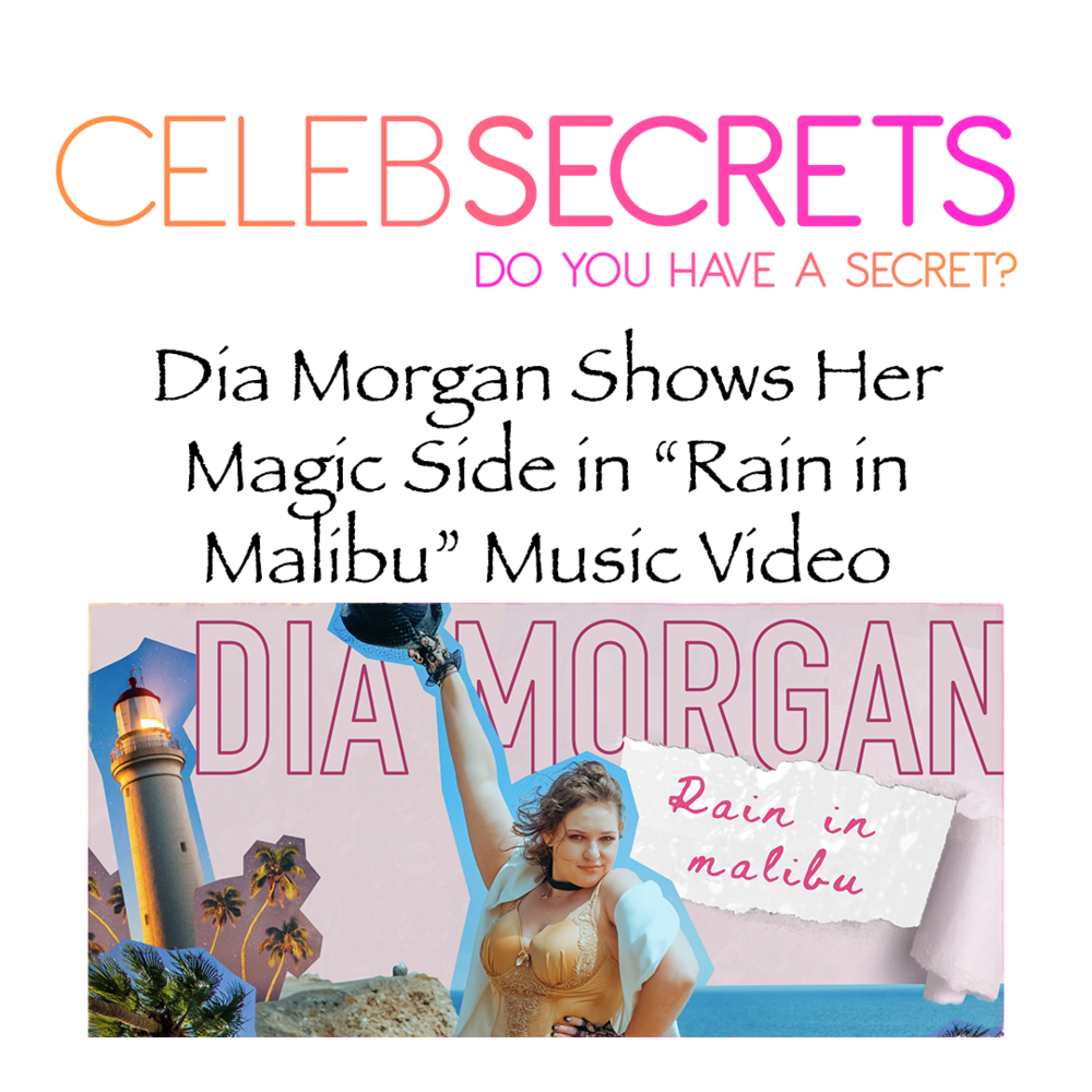 """Singer-songwriter  Dia Morgan  is sharing the magical music video for her song, """"Rain in Malibu"""" and after one watch you will be entranced.  The stunning visual features Dia on a beautiful beach in Malibu. While she sings her song, the animations add a magical feel to the video, ultimately leading up to the moment where it rains in Malibu."""