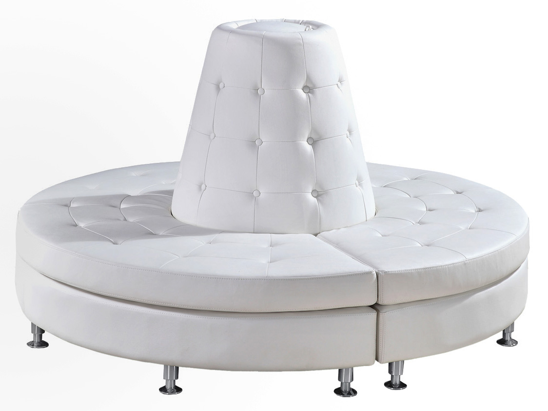 The Luna Collection: Tufted White Circular Lounge