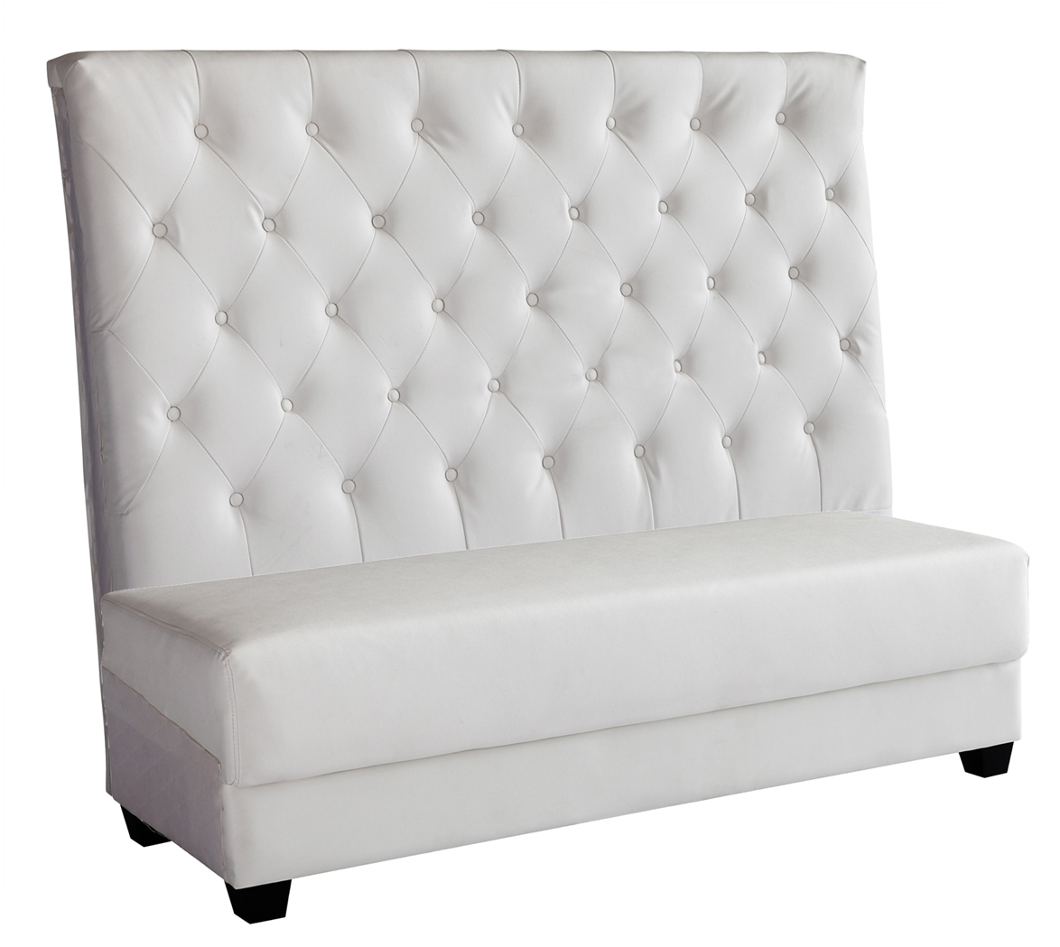 The Luna Collection: Tufted White  Settee