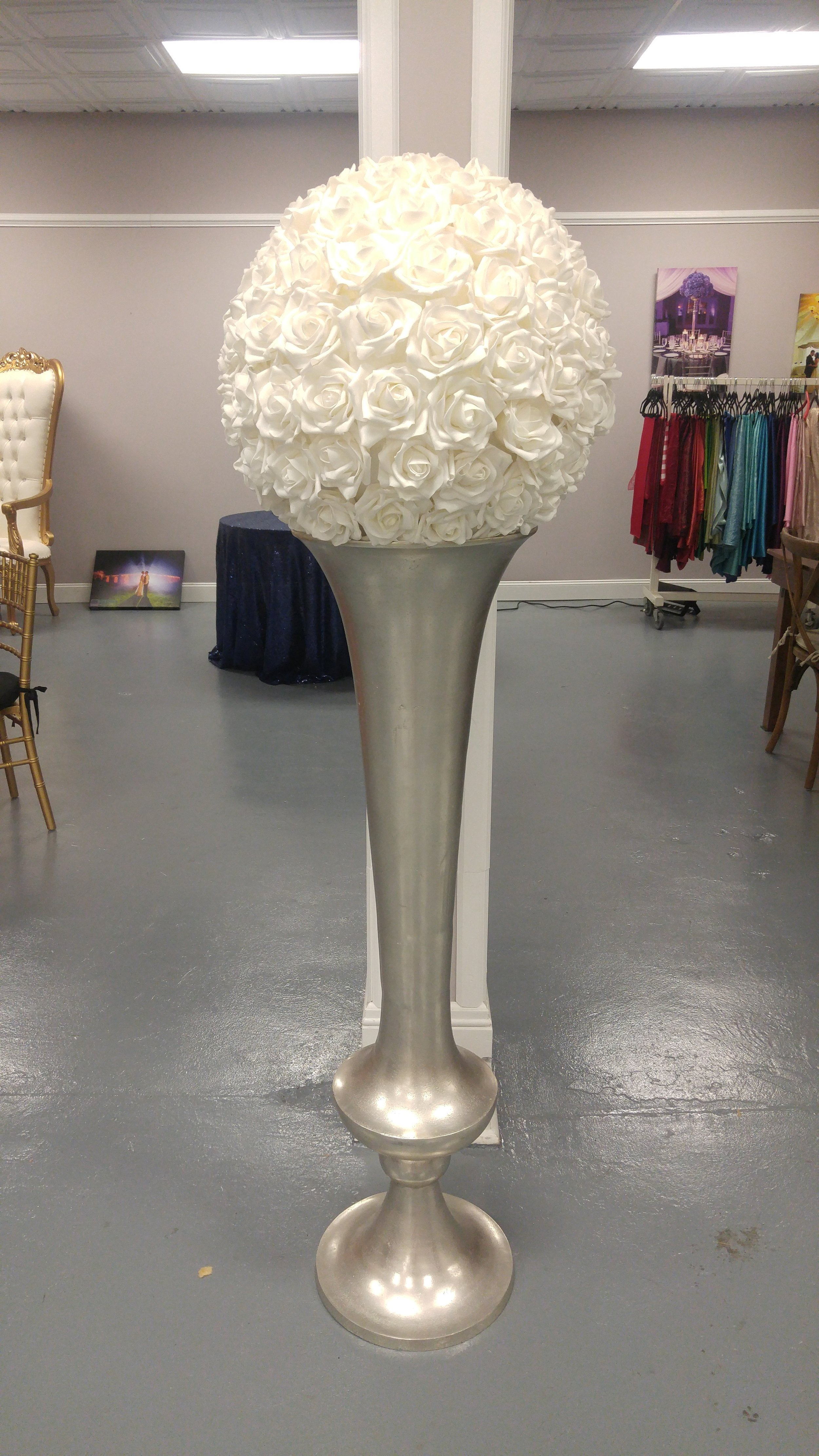Extra-Large Silver Urn