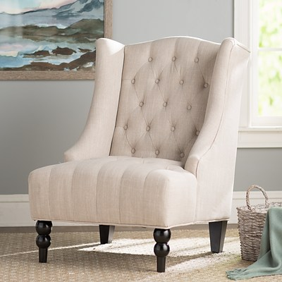 Willa Linen Wingback Chair