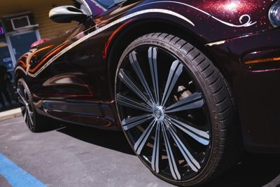 Amazing new rims at San Diego Car Stereo