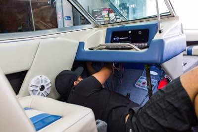 Boat speaker system installation San Diego.