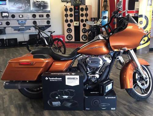Install a motorcycle stereo system in San Diego.