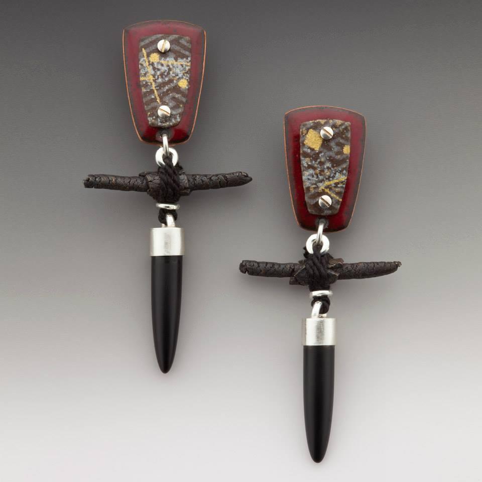 Enamel & Washi earrings 2006