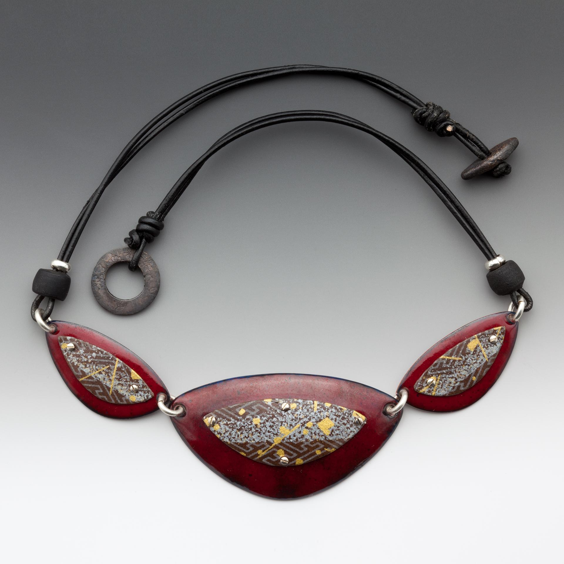Enamel & Washi necklace 2006