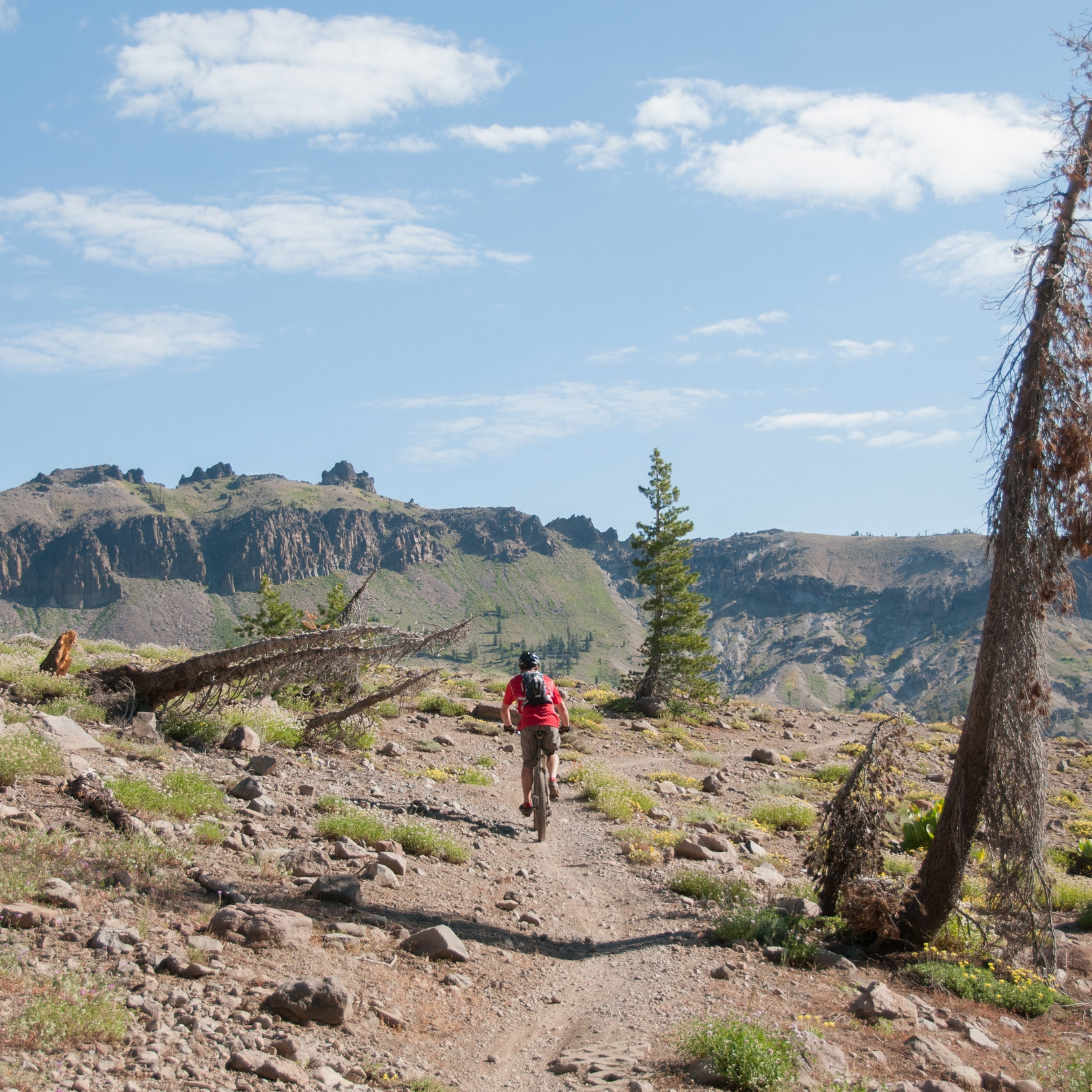 2 - A moderate 12 mile point-to-point trail located near Soda Springs for hiking, trail running, and mountain biking.