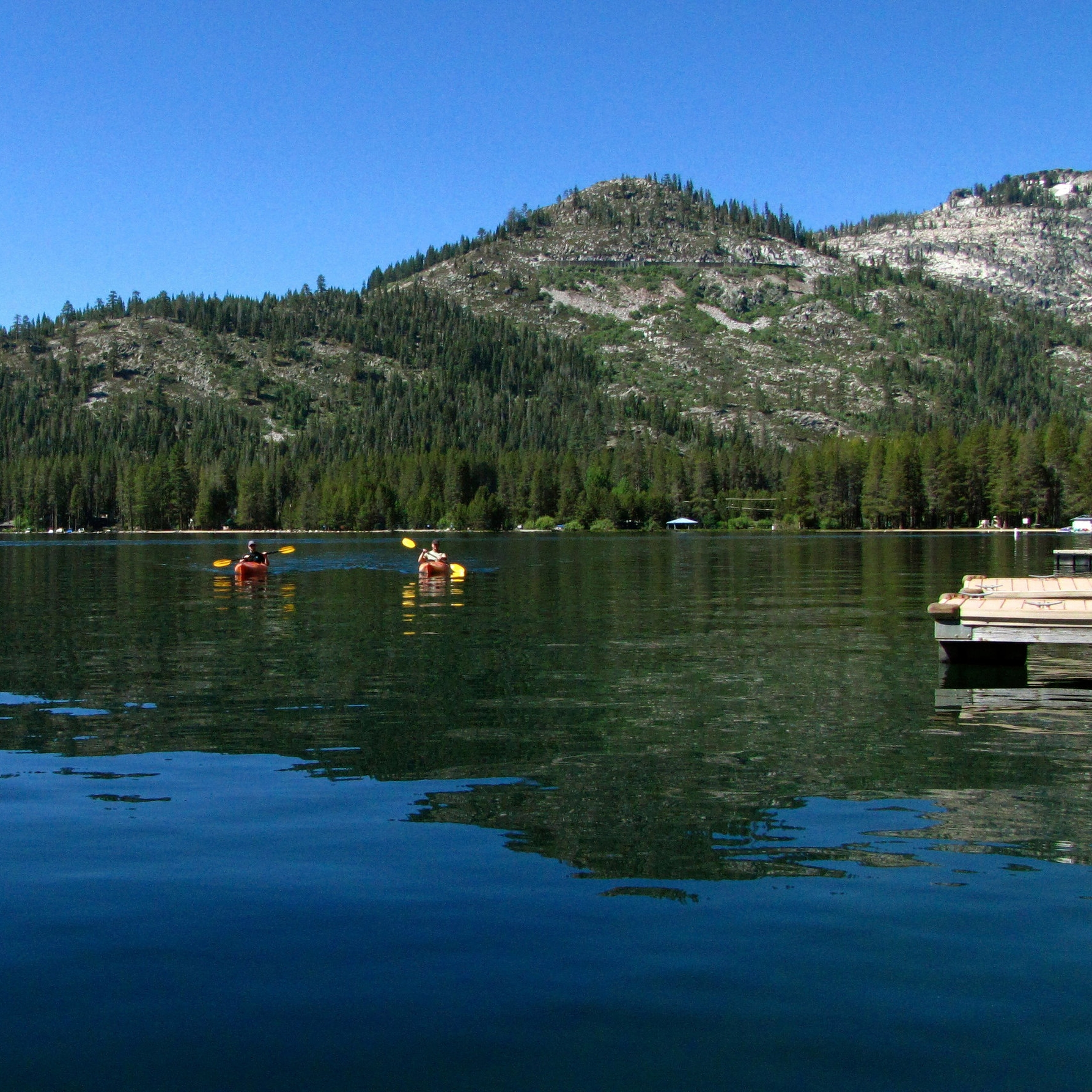 "8 - Known as the ""Jewel of the Sierra,"" Donner Lake is a focal point for many water activities."