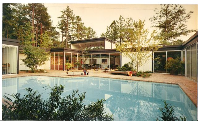 The Cogswell House, 308 North Elliott Road, Chapel Hill, NC. Designed by Arthur Cogswell, AIA