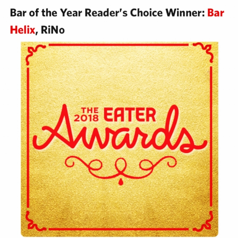 the perfect way to end 2018 — being voted  BAR OF THE YEAR by Eater Denver!
