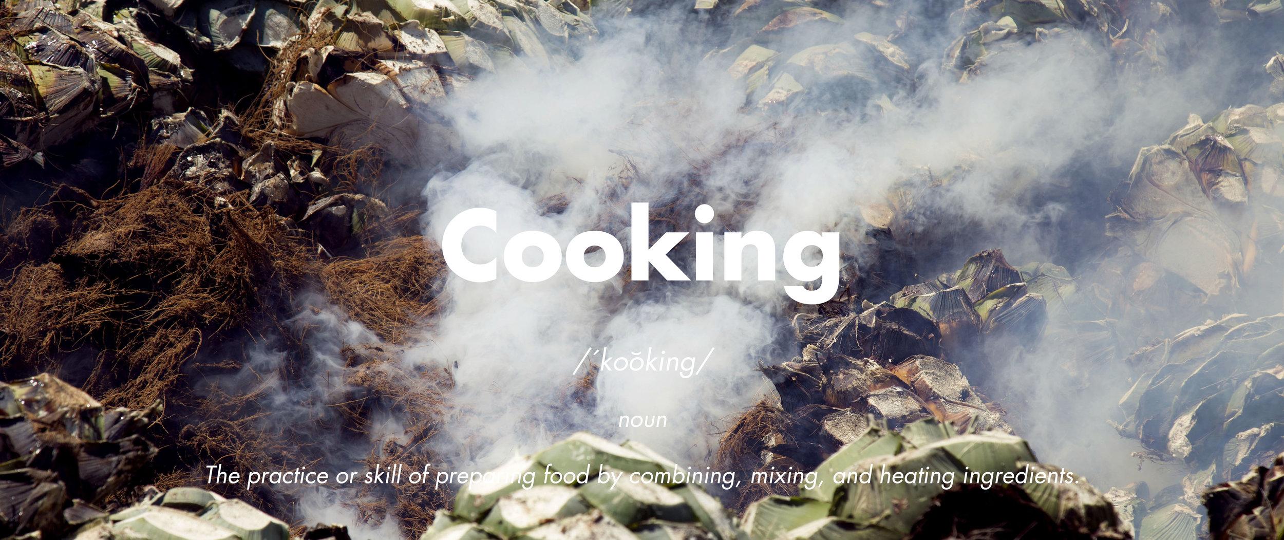 Cooking maguey El Tinieblo