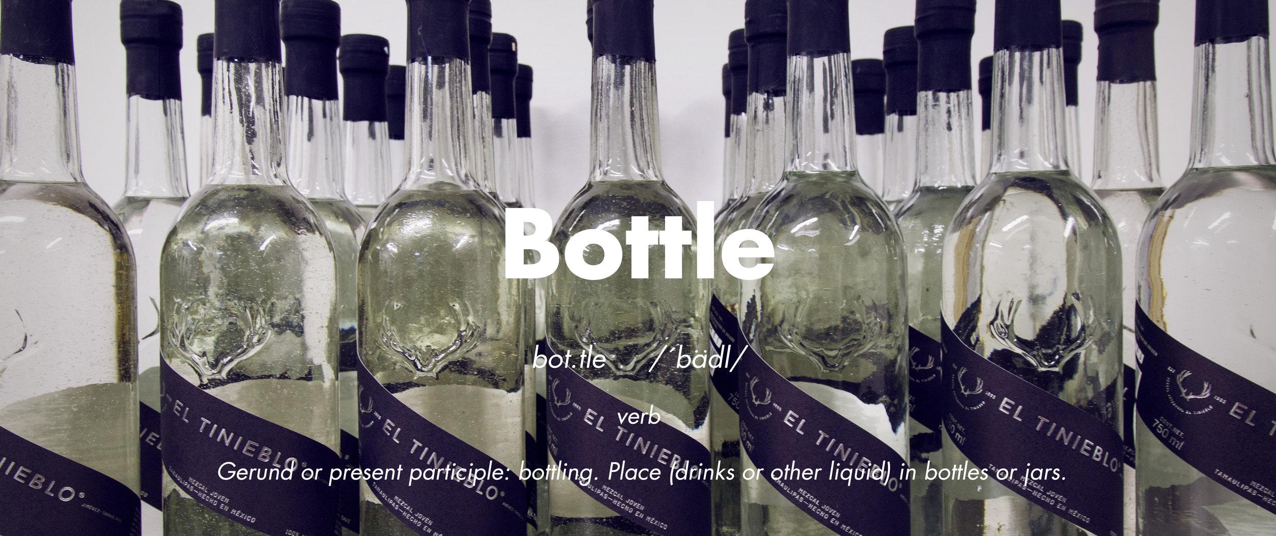 Artisanal bottling El Tinieblo