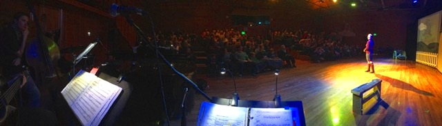 """LET THEM ROAR's view from the """"Orchestra Pit"""" - photo by Mateo"""