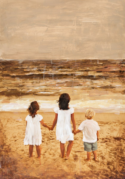 Three On The Beach<br>Commissioned Portrait