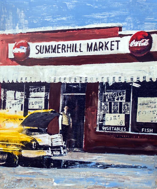 Summerhill Market Atlanta, GA mixed media on panel 36 x 30 inches