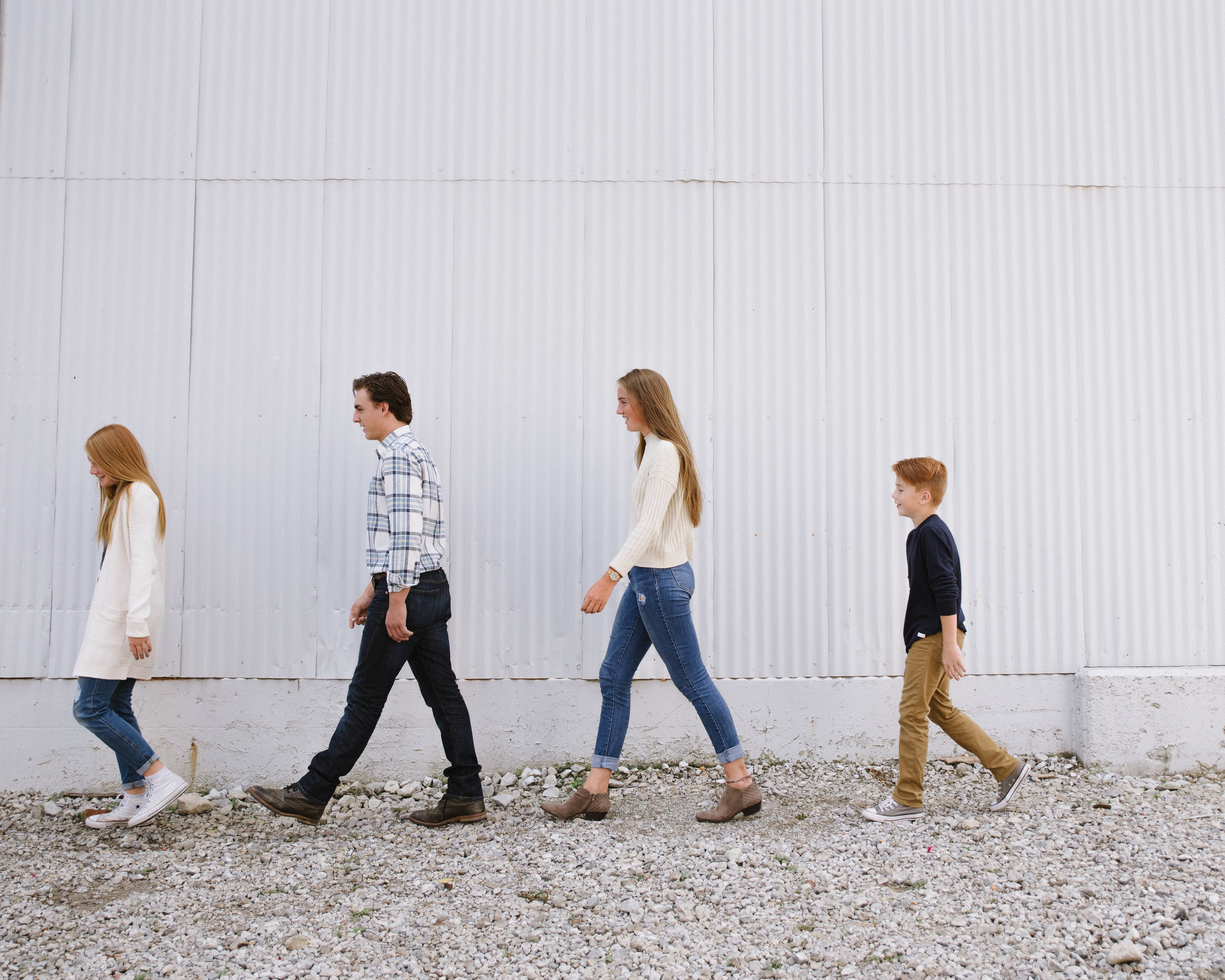 Each child in this family was able to express their individual style while still providing a great, unified look.