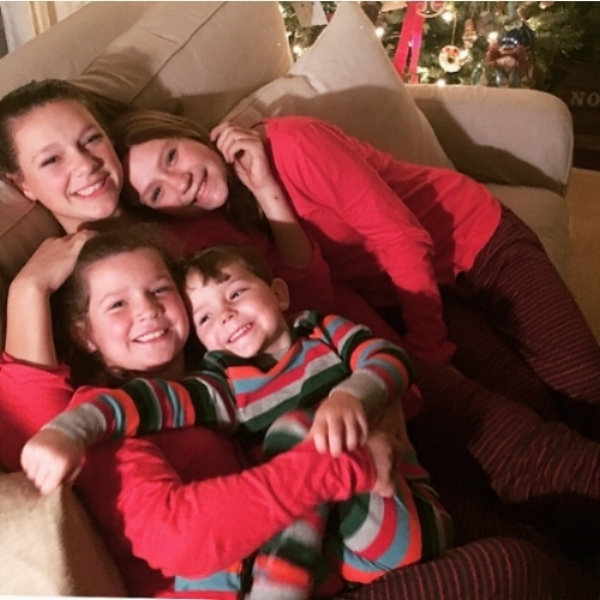 Our children in their matching pajamas.