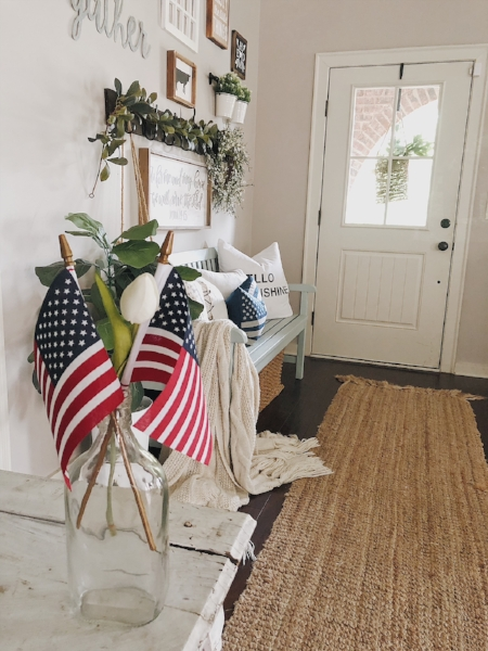 Entryways are oftentimes visitors first impressions of your home; I shared 5 ways to make your farmhouse entryway stand out  here .