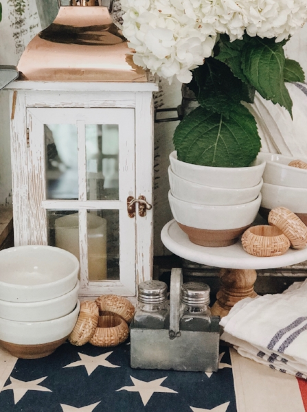 Check out how these same pieces can be used to create a casual, farmhouse tablescape  here .