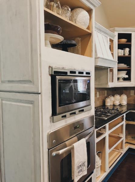 Kitchen Cabinets Primed.