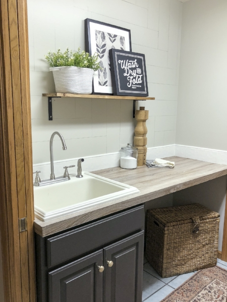 After of her laundry room makeover