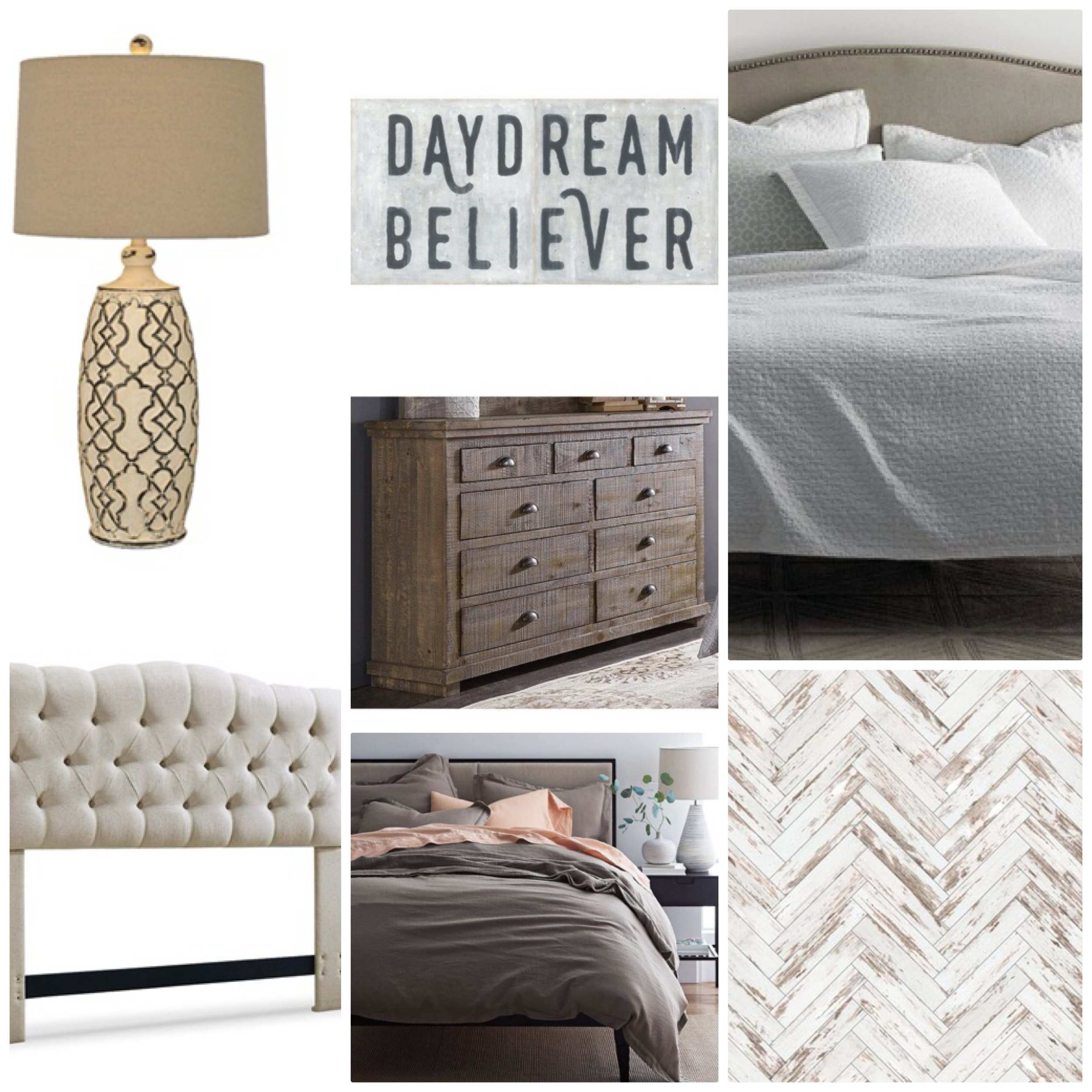 Master Bedroom Mood Board option 2.