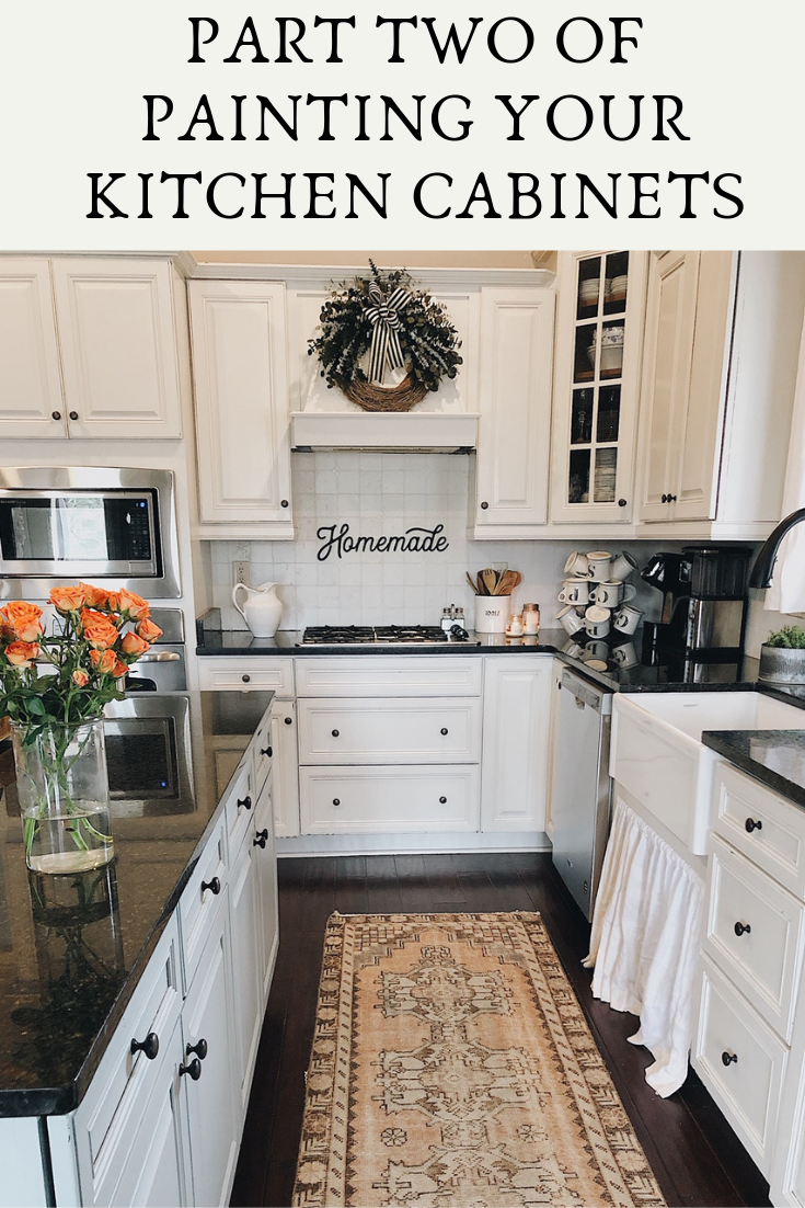 Part Two Of Painting Your Kitchen Cabinets: Painting And Final Stage ...