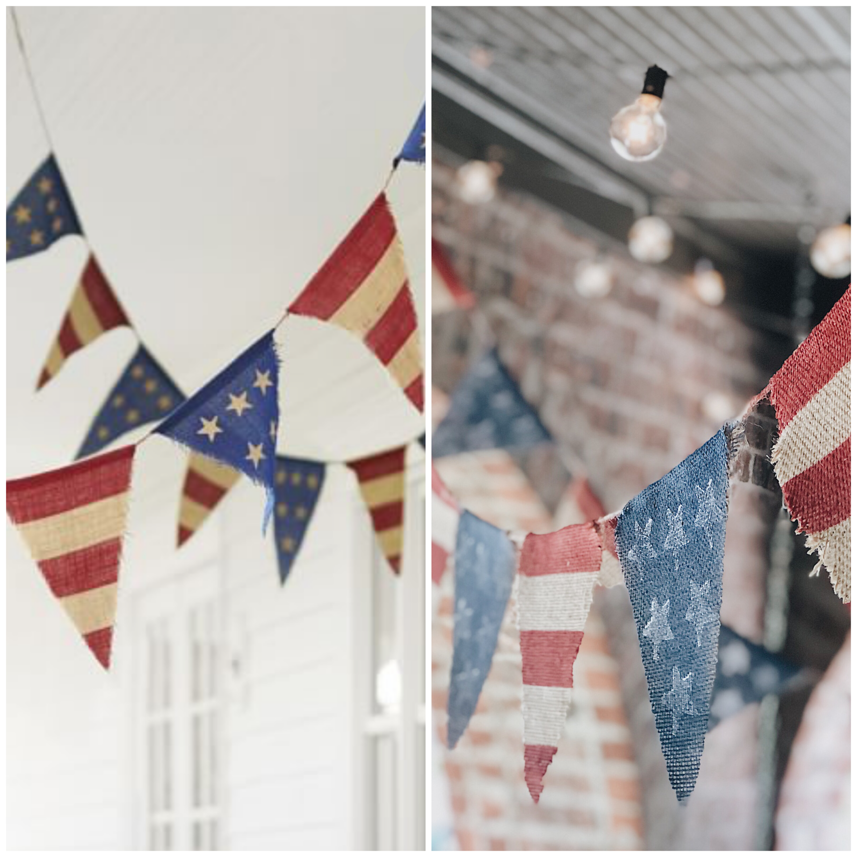 Photo credit for image on left side of collage: www.potterybarn.com