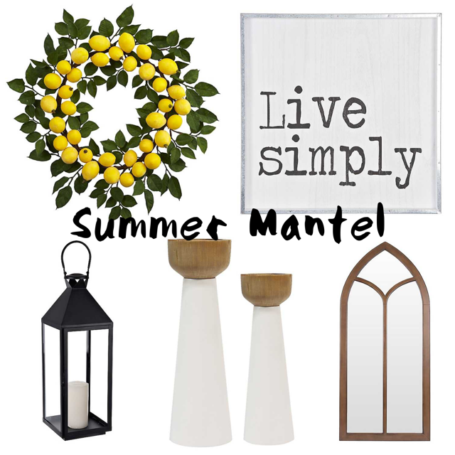 Summer mantel inspiration board I created.