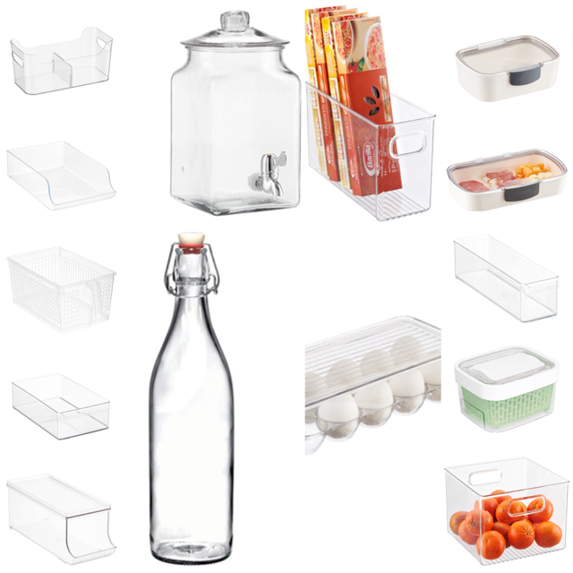 Collage created with images from www.thecontainerstore.com