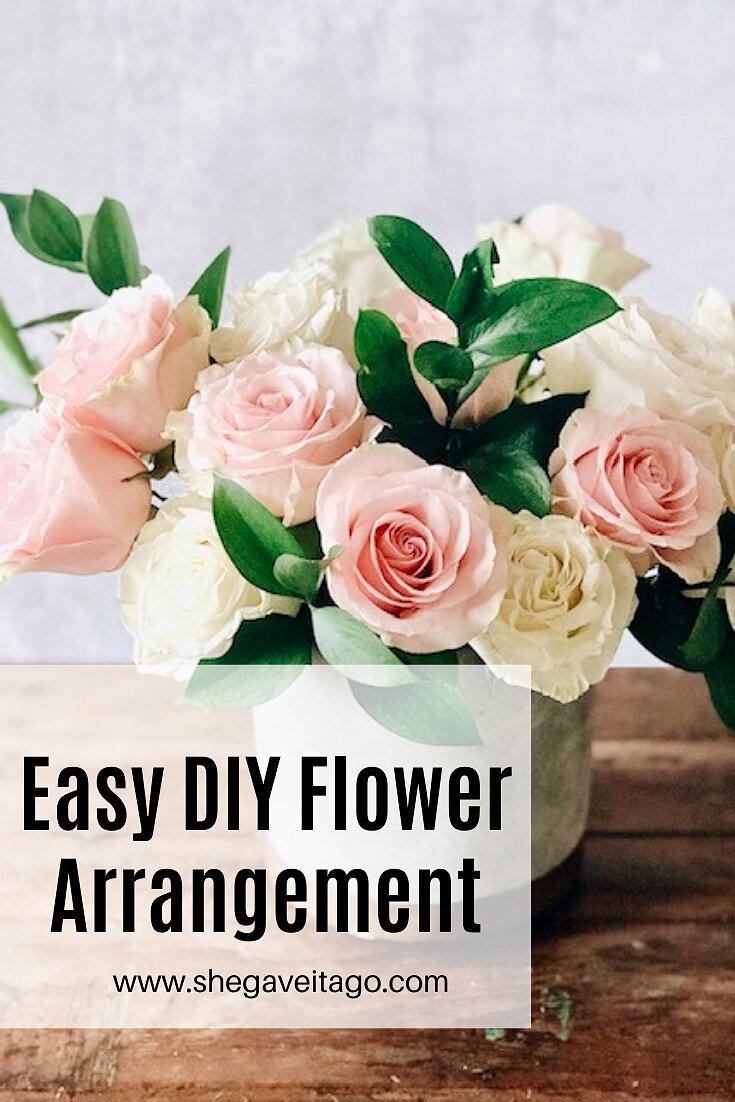 Easy Diy Flower Arrangement She Gave It A Go