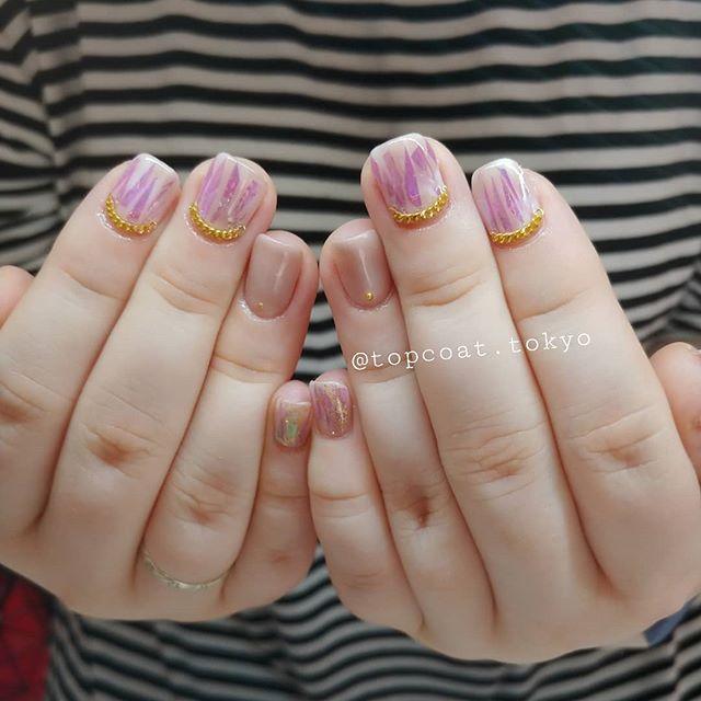 かわいいよーこのネイルっ😉💕#nails #tokyo #nailart #Shibuya #ネイル #ネイルデザイン #表参道