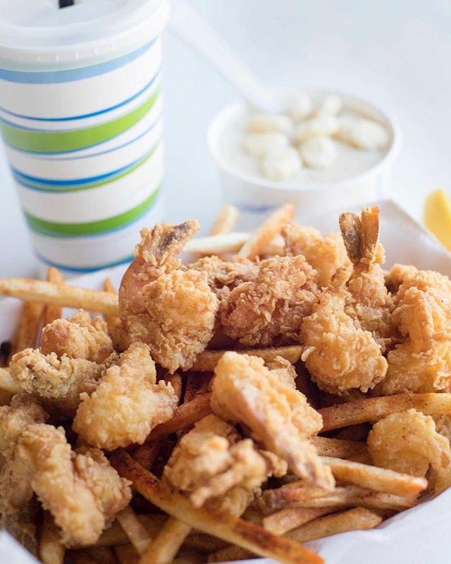 Start the weekend off with some fryer and you are good to go! 🙃💚 (📷 : Shrimp Basket)