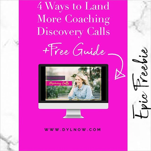 Oh hey 👋🏻 coach!⠀ ⠀ I know you are stressed the F out about how in the world you're going to get discovery calls.⠀ ⠀ You've got a course or offering and you're ready to sell it but how exactly do you get people signed up for your calls?⠀ ⠀ Head on over to the blog where I give you 4 ways to promote your discovery sessions so you can get clients. There is also a free guide where I walk you through my discovery call process.⠀ ⠀ Click the website button in the link in the profile